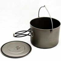 TOAKS Titanium 1600ml Pot with Bail Handle Cooking Camping Outdoor Survival