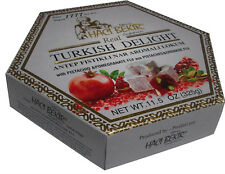 HACIBEKIR Oldest Company, Turkish Delight POMEGRANATE & PISTACHIO  325g