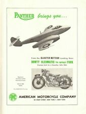 1949 Panther / American Motorcycle Company Vintage Ad