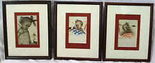 Hummel What's Buzzin prints lot of 3 baby bee nursery vintage framed