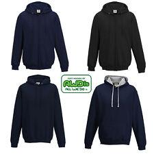 AWDis Plain Hoodie Varsity College Hooded Sweatshirt New