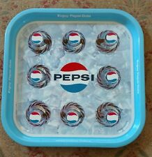 Original 1960's-70's Pepsi Metal Serving Tray MAN CAVE COOL ADVERTISEMENT SIGN
