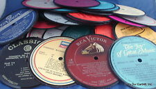 Diy Recycled Record Drink Coasters Set of 4 - Record Centers for you to finish