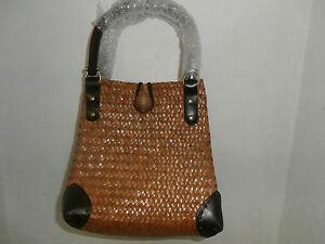 Women's Small Straw Handbag Wheat NWOT!!!!