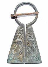 Excelente Penannular Bronce Vikingo Broche/peroné-Runico símbolos-ST60