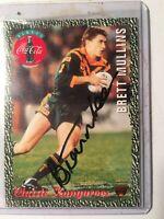 1995 AUS Rugby League Coca Cola Kangaroos Classic No10 Signed Brett Mullins RARE