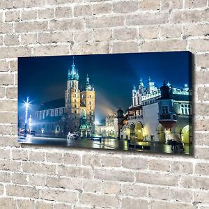 Tulup Canvas Print Wall Art 140x70 - Krakow by night