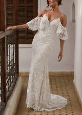 Stunning Vintage Baroque Lace Mermaid Bohemian Wedding Dress Sizes 12, BNWT