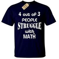 4 OUT OF 3 PEOPLE STRUGGLE WITH MATH MENS FUNNY T SHIRT S-5XL JOKE GIFT MATHS