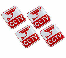 4 x Domed 3D CCTV Stickers Camera Recording Warning Home Security Car Window