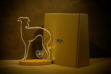 Italian Grayhound led light decoration with personalisation.
