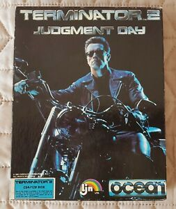 TERMINATOR 2 - JUDGEMENT DAY for Commodore 64/128 DISK GAME in box 1991. ExRare!