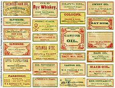 Pharmacy Labels, 1 Sticker Sheet, Antique Apothecary Bottle, Drug Store Signs