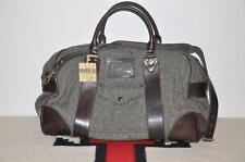 Ralph Lauren RRL Herringbone Wool Tweed & Leather Duffle Weekender Bag