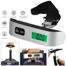 50kg Digital Luggage Scale Suitcase Weighing Portable Travel Bag Weigher Silver