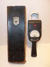 Vintage GE Hand-Held Clamp-On AC Volt Ammeter Retro Art-Deco Type AK1 60cy WORKS