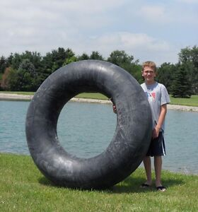 "One New Giant 60"" Rubber Swim Tube Pond 16.9-34 TR-218  Valve FREE Shipping"