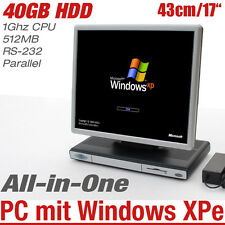 "43cm 17"" TOUT EN UN ORDINATEUR AVEC WINDOWS XPe 1GHZ 512MB 40GB HDD RS-232"