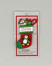 Itsy Bitsy Stocking Ornament ~ CHRISTY ~ PENGUIN ~ Stocking Stuffer ~