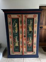 Antique Cupboard Armoire Kitchen Toy Bedroom Storage Cabinet Rustic Vintage Chic
