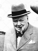 Vintage Winston Churchill Cigar Prime Minister Britain Canvas Art Print