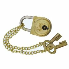 G4538: Kleines Messingschloss und 2 Schlüssel für unsere maritimen Schatztruhen