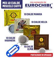 MIX 40 CIALDE CAFFÈ PASSALACQUA - 10 MANHOA - 10 HELCA - 10 HABANERA - 10 ELMIR