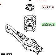 KIA SORENTO 2014 OEM REAR COIL SPRING 553301U760