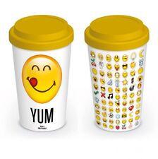 Smiley Emoticons Yum Ceramica Viaggio Tazza Con Coperchio In Silicone MGT23771