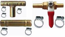 "8MM - 5/16"" Gas 3 Way Tee,Straight Connector,Valve Ball with Clips Pipe joints"