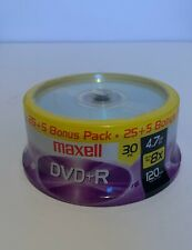 Maxell DVD+R 4.7GB GO 8x 120min Recordable Blank Disks