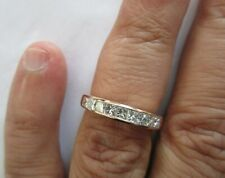 Diamond=1.25 F-Vs2 Size 7.25 Value=$6,500 14K Rose Gold Diamond Wedding Band