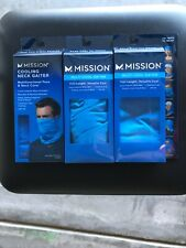 Mission Cooling Lot of 3 Gaiter Neck Mask Facemask Blue Brand New Never Opened