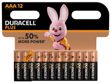 12 x Duracell Plus Power AAA Alkaline Micro LR03 MN2400 Batterie 1,5V - 1 VPE