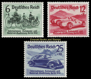 EBS Germany 1939 - International Automobile Exhibition - Michel 686-688 MH*