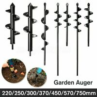 12*3in Planting Auger Spiral Hole Drill Bit For Garden Yard Earth Planter Digger