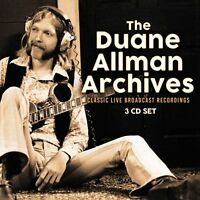 DUANE ALLMAN of ALLMAN BROTHERS New Sealed 2018 LIVE CONCERTS & MORE 3 CD BOXSET