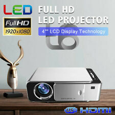 4500 Lumens LED Home Theater Projector 1080P HD HDMI USB AV 3D Portable Cinema