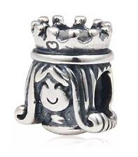 NEW 925 Sterling Silver European Bracelet Charm Bead Starbucks Logo Siren Queen