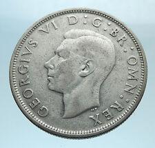 1937 Great Britain United Kingdom Uk George Vi Silver Half Crown Coin i77674