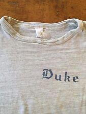 Vintage Duke University College Super Soft Heather Gray T Shirt Usa Made
