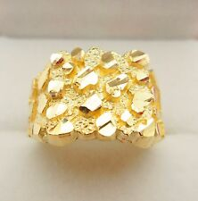 Men's 10K Yellow Gold Nugget Ring 5.4 g
