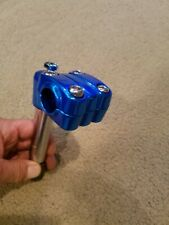 NEW BMX FREESTYLE BICYCLE GOOSENECK STEM 22.2mm BLUE,