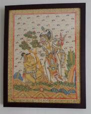 Fine Balinese Kamasan Painting in Mahogany Coloured Frame.