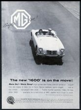 1960 MG MGA 1600 car photo On The Move vintage print ad