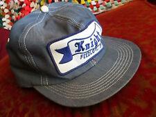Vintage Denim KNIGHT FEEDLOT KS Hat Cap Snap Back Embroidered Patch Logo Farmer
