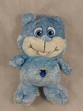 "Nanco Blue Bear Jewel Belly Plush 10"" 2006 Stuffed Animal"