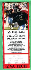 9/27/97 VIRGINIA TECH VS. ARKANSAS STATE FOOTBALL TICKET STUB