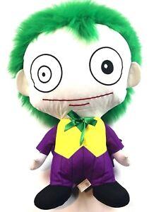 "Six Flags Joker PILLOW HEAD STUFFED PLUSH TOY DC Comics Justice League Huge 21"""