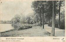 Mooie oude postkaart met zicht op HET BOLWERK IN MIDDELBURG  (PK692)